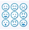 Smile Icon Set vector image vector image