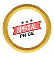 Special price ribbon icon vector image