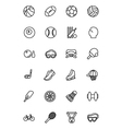 Sports Line Icons 1 vector image vector image