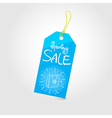 Spring sale tag 01 vector image vector image