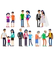 Stages of life young couple vector image vector image