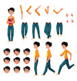 student young man character creation set vector image vector image
