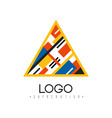 suprematism logo abstract creative geometric vector image vector image