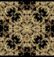 textured luxury baroque embroidery seamless vector image vector image