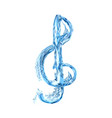 treble clef in water vector image vector image