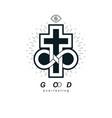 true infinite christian belief in god creative vector image vector image
