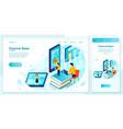 web online tutorial school learn process vector image