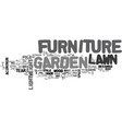 what is lawn and garden furniture text word cloud vector image vector image