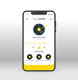 yellow online music shopping ui ux gui screen for vector image vector image