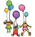 happy kids vector image