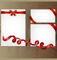 red and gold gift bows and ribbons vector image