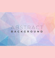 abstract modern triangle polygonal background vector image vector image