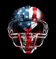 american football skull vector image vector image
