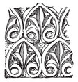 anthemion ismenias the theban vintage engraving vector image vector image