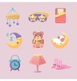 Baby Room Decoration Set vector image vector image