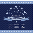 baby shower invitation with hearts in retro style vector image
