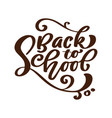 back to school handwritten lettering text label vector image