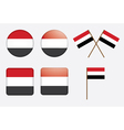 badges with flag of Yemen vector image