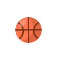 basketball cartoon icon round orange ball vector image
