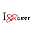 beer love icon vector image vector image
