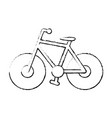 bicycle transport vehicle vector image vector image