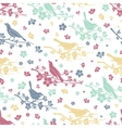 Birds and twigs seamless pattern vector image vector image