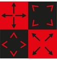 black and red signs vector image vector image