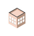 block windows robuilding isometric style vector image