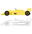 car racing flat style vector image vector image