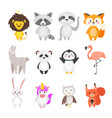 cartoon cute animals vector image