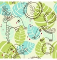 cartoon elephants pattern vector image vector image