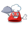 chef with food photo of a cartoon woolen beanie vector image vector image