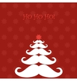 Christmas tree made of Santas moustaches vector image vector image