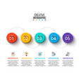 circle business graphic elements business process vector image vector image