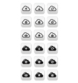 Cloud buttons set for web vector image vector image