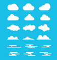 cloud set collection with modern or flat style vector image vector image