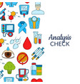 colored diabetes icons background banner vector image vector image