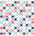 colorful circles seamless pattern simple dots vector image vector image