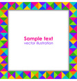 Colorful holiday frame vector image vector image