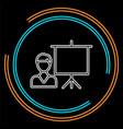 conference presentation vector image