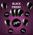 doodle sale tag black friday sale banner balloons vector image