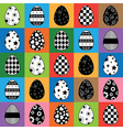 easter egg pattern vector image vector image