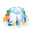 eco concept planet clean rubbish flat vector image vector image