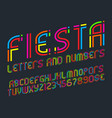 fiesta alphabet with numbers and currency signs vector image vector image