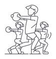 fitness peoplegym line icon sign vector image vector image