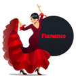 flamenco dancer in cartoon style vector image