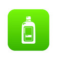 flat bottle icon green vector image vector image