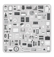 Flat icons modern office set vector image