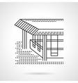 Flat line design coastal terrace icon vector image