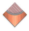 floor heater icon realistic style vector image